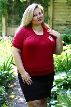 Изображение Блуза Колорит вискоза гладко крашенная