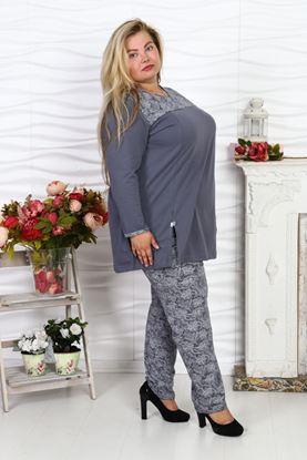 Изображение 81-07  Пижама женская с брюками сер