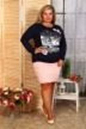Изображение Блуза Венеция длин рукав , черно-сливовый