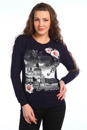 Изображение Блуза Венеция длин рукав , синий
