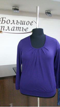 "Изображение Блуза ""Колорит"" длин рукав виск гл/краш ,цвет фиолет"