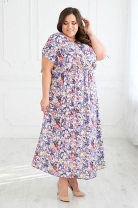 Изображение Платье 039-13 мелкие цветы  штапель