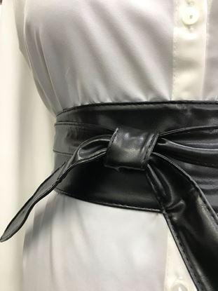 Изображение Пояс-кушак узкий черный