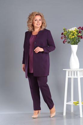 Изображение Комплект жакет, блуза, брюки 3284