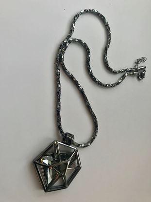 Изображение Бижу Кулон NIUZHUAN 3000темный камень треугольник в многограннике
