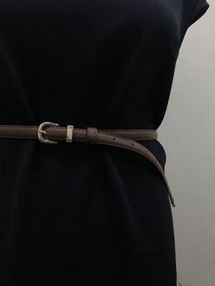 Изображение Ремень узкий длинный коричневый