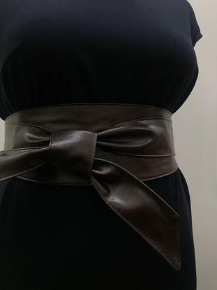 Изображение Пояс-кушак широкий Темно-коричневый