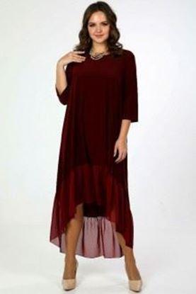 Изображение Платье  5071 цвет бордо