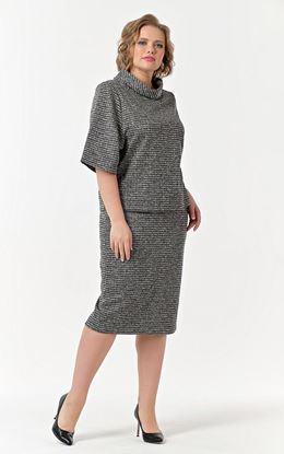 Изображение *Diana Комплект жен. 780-624 юбка+блуза, костюмн цветн клетка