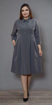 Изображение Платье 563 серый