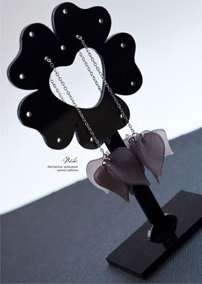 Изображение Серьги- протяжки серо-коричневые