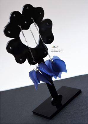 Изображение Серьги- протяжки синий ультрамарин