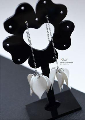 Изображение Серьги- протяжки жемчужно-белый