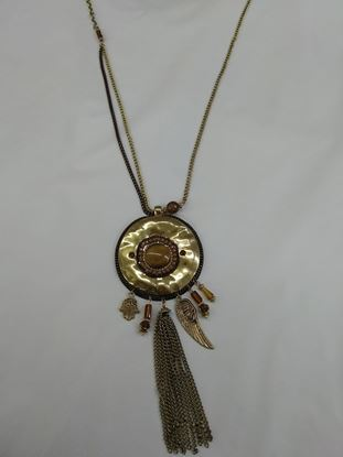 Изображение Кулон жен цепь/кругл кулон  с подвесками