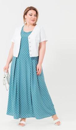 Изображение Комплект 132169 платье6+болеро бирюза
