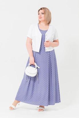 Изображение Комплект 132169 платье+болеро фиолет