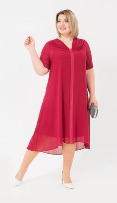 Изображение Платье 18580 бордовый